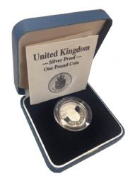 1988 Silver Proof One Pound Coin for sale